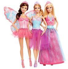 NEUF MATTEL Barbie fée princesse ballerine de Conte de Fées Magique Cadeau Set 3 Poupées Pack