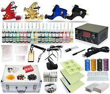 Complete Tattoo Kit 4 Rotary machine set Gun 40 Color Inks Power Supply TK-30