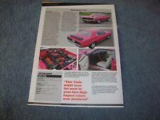 "1970 Plymouth Barracuda Article ""Moulin Rouge 'Cuda"""