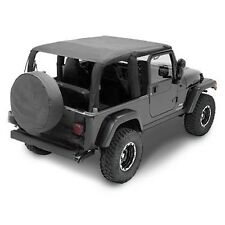 04-06 Jeep Wrangler Unlimited LJ Extended Bikini Top Black (requires channel)