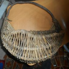 antique woven, wooden egg basket?
