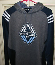 Men's Large adidas VANCOUVER WHITECAPS Soccer Pullover Hoodie Hooded Sweat Shirt