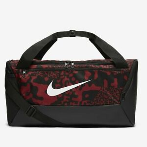 Nike Brasilia Printed Duffle 9.0 Bag 'Team Red' CU9487-677