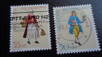 Schweiz, Helvetia, Briefmarken, 1990, Mi-Nr 1417 + 1418, gestempelt, Pro Patria