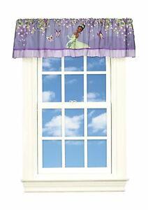 "NEW Disney Princess & Frog Tiana Decorative Valance 50"" x 17"" Purple"