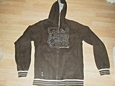 QUICKSILVER BROWN SLIM FIT LONG SLEEVE HOODIE SIZE L