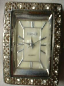 1 X TERNER MARQUISE WATCH WORKING NO BAND SEE OTHERS LISTED
