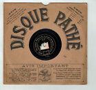 78T 21cm SAPHIR MARECHAL Disque Phonographe VALSONS POPULO Chant PATHE 4621 RARE