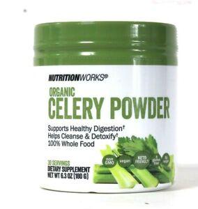 NutritionWorks 6.3 Oz Organic 100% Whole Food Celery Powder Digestion & Cleanse