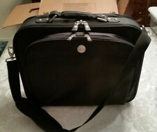 "Dell Deluxe Black Nylon Notebook / Laptop Briefcase 17""x14""x5"" (Empty) w/Strap"
