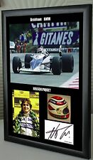 """Nelson Piquet F1 Brabham BMW Framed Canvas Tribute Signed Print """"Great Gift"""""""