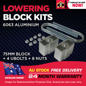 """Lowering Blocks Kit Ford Courier 3"""" (75mm) 1978-2006 75mm ID U-Bolts"""