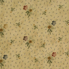 by the 1/2 YD~MODA~KANSAS TROUBLES FAVORITES~9165-11~TINY FLOWERS ON TAN