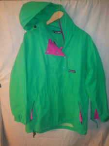 🌄Vintage Patagonia Green Anorak Pullover Womens Size 10 Snaps Mesh Lined🌄