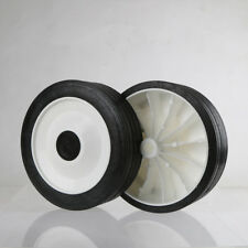 2x 150mm Dia. / 13mm Bore - Solid Rubber Tyre, Plastic Centre, Heavy Duty Wheels