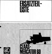 CLAAS Mercator 60 Combine Parts Manual (PDF file) SPARE PARTS LIST CATALOGUE