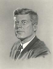 President John F. Kenndy JFK Portrait Apollo Mission Giclee Art Print 16 x 20
