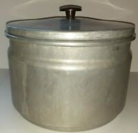 Vintage Mirro HI SPEED THRIFT COOKER Aluminum 6 Quart Deep Well Cooker 5 pc.