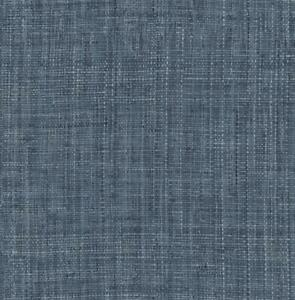 Wallpaper Smooth Finish Printed Faux Look Woven Grasscloth, Blue Tones