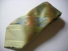 TKR436 BUGATTI Krawatte grün Paisley 100% Seide wie Neu!