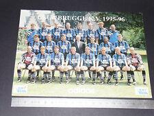 RARE CLUB BRUGGE K.V. 1995-1996 BELGIQUE BELGIË BRUGES FOOTBALL CPA DEDICACES