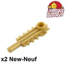 Lego - 2x Minifig utensil tronçonneuse chainsaw or doré/pearl gold 6117 NEUF