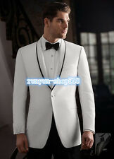 Mens Wedding Suit Bridal Groom Suits Tuxedos Formal Business Blazers Custom Made