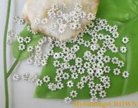 Wholesale 1000PCS Silver plated daisy spacer beads 4mm for jewelry making W308