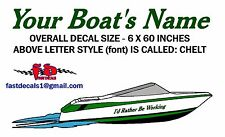 LETTERING DECALS FOR BOAT SIDES - CHOICE OF FONT & OF COLOR - FREE SHIPPING