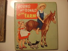 1948 Cozy Corner Book YOUNG MACDONALD ON THE FARM by Nan Gilbert