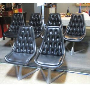 6 Chromecraft star trek chairs Great shape