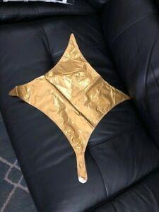 "Star Point Geometric Shape Foil Balloon 20"" Gold New!!!"