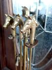 Vintage Equestrian windcurrent collection Horse Head Brass Fireplace Tool Set