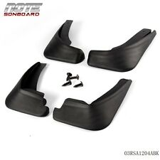 Mud  Flaps Splash Mudguard For 2009 - 2012 Ford Fiesta Hatchback 4PCS Black