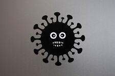 3x COVID Face Mask Sticker for Apple MacBook Backlited Logo