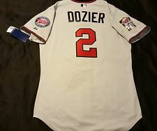 Majestic AUTHENTIC 44 LARGE, MINNESOTA TWINS, BRIAN DOZIER, ON FIELD Jersey