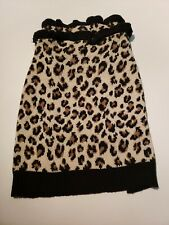 Vibrant Life Dog Puppy Apparel Leopard Spots Knit Sweater Size medium