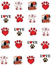 Valentine Puppy LoveWaterslide Nail Decals/Nail art
