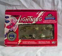 Johnny Lightning Commemorative Limited Edition Metal Chrome Set B Damaged Packag