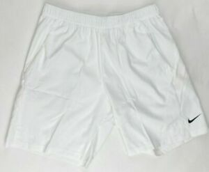 Nike Dri-FIT Tennis Game Short Activewear Men's Large White CJ1581-100