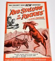 Red Stallions In The Rockies 14 Page pressbook Arthur Franz Jean Heather 1949