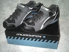 MUDDYFOX TOUR 200 LOW CYCLING SHOES SIZE 10 CHARCOAL GREY AND BLUE