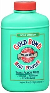 Gold Bond Extra Strength Body Powder Cooling Absorbing Itch Relieving 4 oz 113g