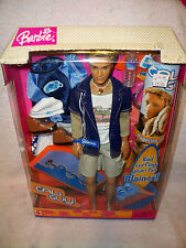 Barbie CALI GUY BLAINE DOLL Surfing set NRFB 2004 Mattel Lots of Accessories!