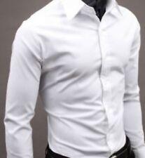Mens Long Sleeve Slim Fit Dress Shirt Business Work Luxury Formal Casual T-shirt