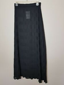Guardaroba brand new see through long skirt size M elastic waist black party new