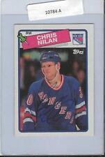Chris Nilan 1988 Topps Autograph #31 Rangers