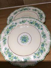 "Royal Crown Derby ,2 Fine China Plates 8 1/2"" Diam.Scallop Edge ,enamelling e.c."