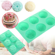 8FEF Flower Shaped Silicone DIY Handmade Soap Candle Cake Mold Mould Supplies