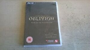 ELDER SCROLLS IV 4 OBLIVION GAME OF THE YEAR EDITION - PC GAME COMPLETE WITH MAP